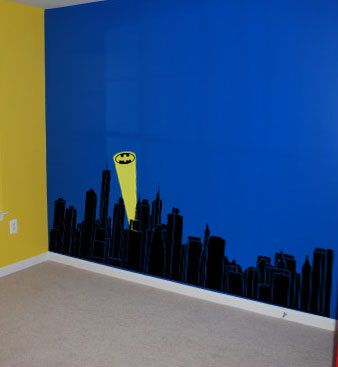Gotham Skyline Vinyl Wall Decal Batman Super Hero Avengers - Superhero vinyl wall decals