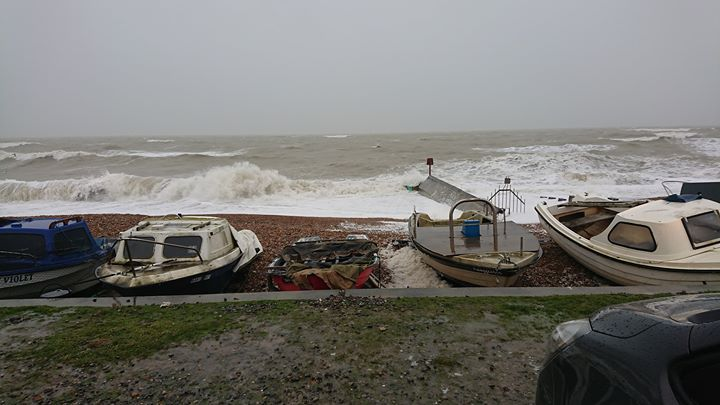 Did anyone order a large portion of wind and rain?  #Bexhill #BexhillBeach #BexhillSeafront #BexhillSeaAnglingClub #Storm #StormDennis #Wind #Rain #Waves #RoughSeas
