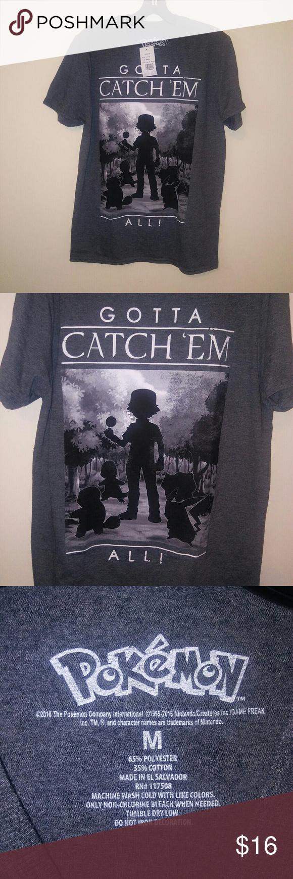 c26f4b51 Pokemon Gotta Catch'em All Mens Medium Shirt New with tags, 19.5