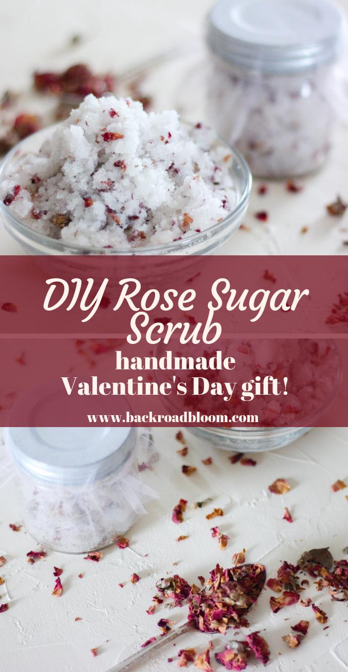 DIY Rose Sugar Scrub #sugarscrubrecipe