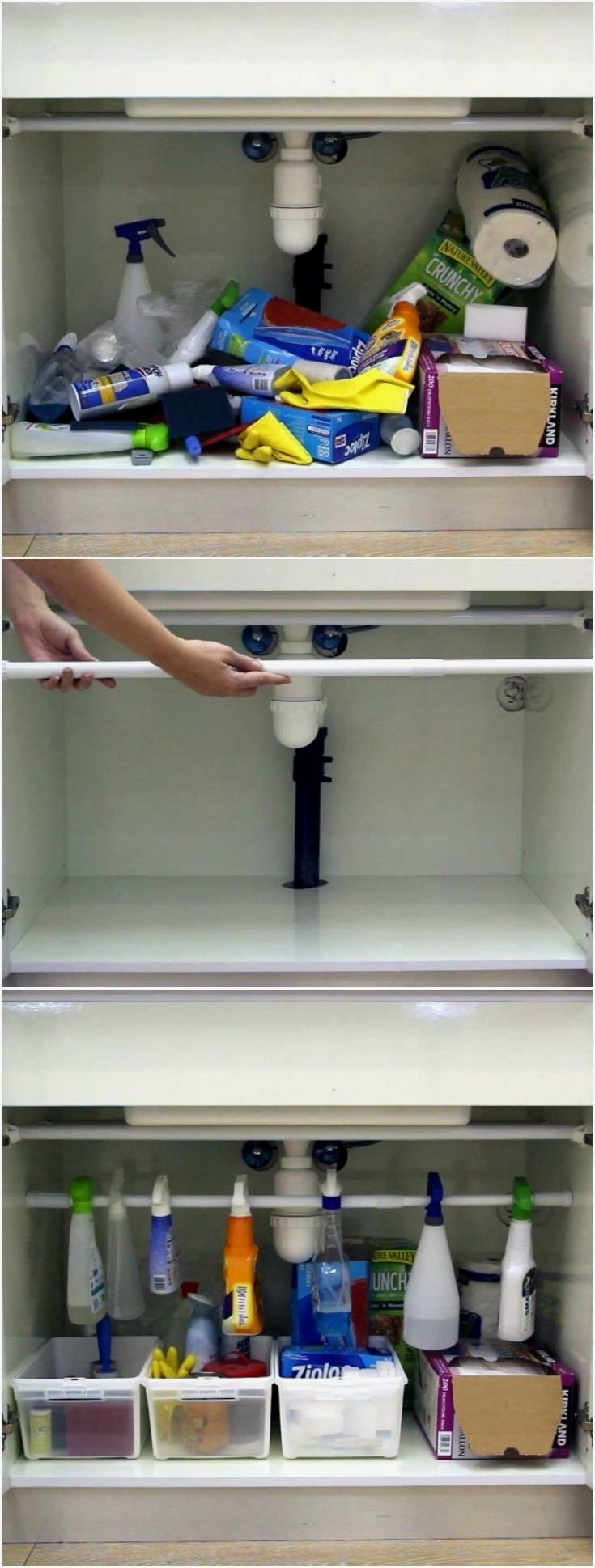 If You Have A Mess Under Your Kitchen Sink Cabinet, There
