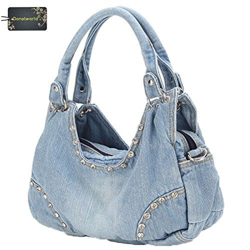 Donalworl Women Casual Tote Ladies Large Designer Denim Shoulder Bags  Handbag Pattern2 -- Want additional info  Click on the image. 7cae2b59f6322