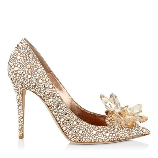 6d6e4f64038 JIMMY CHOO Avril Golden Mix Crystal Covered Pointy Toe Pump.  jimmychoo   shoes  s
