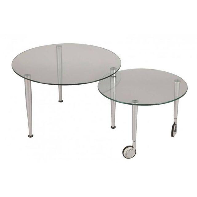 inside 75 table basse eight en verre transparent - Inside75 Table Basse