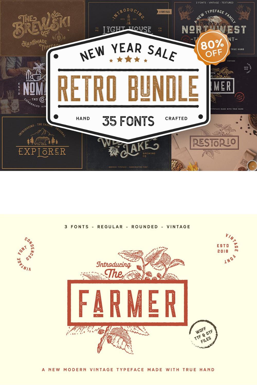 Retro Vintage Font Collection In 2020 Vintage Fonts Retro Vintage Retro