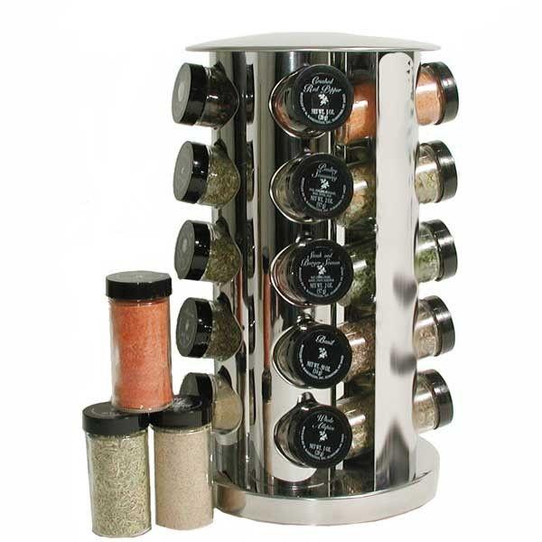 Kamenstein 20 Jar Stainless Steel Revolving Spice Rack Stuff I