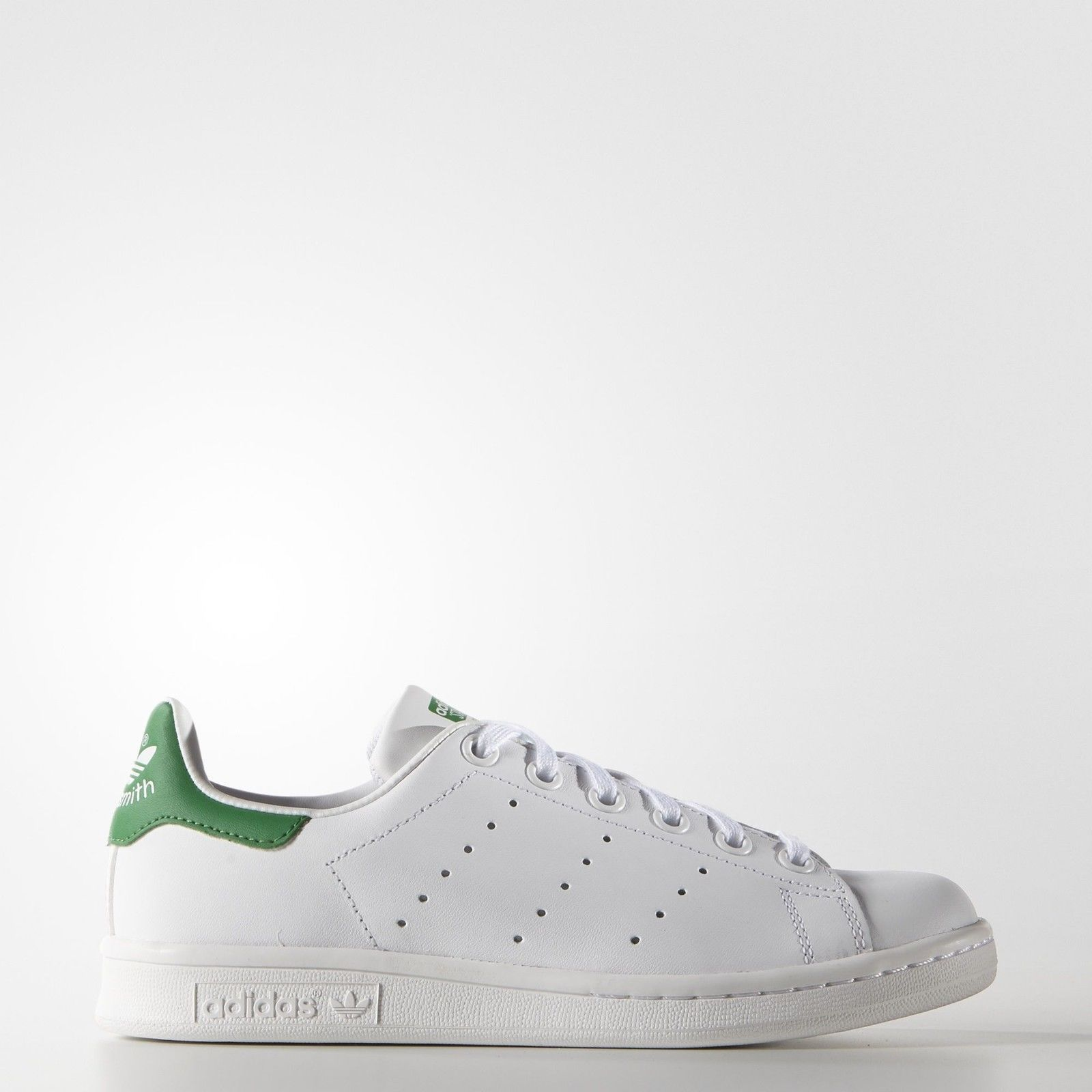 the latest 15f0f d6643 adidas Originals Kids' Stan Smith Leather White/Green ...