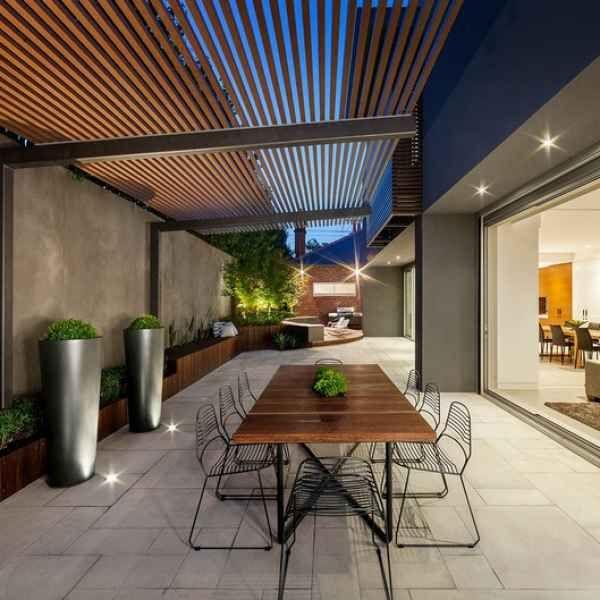 Moderne Terrassenüberdachung u2013 60 verschiedene Ideen im Überblick - outdoor patio design ideen