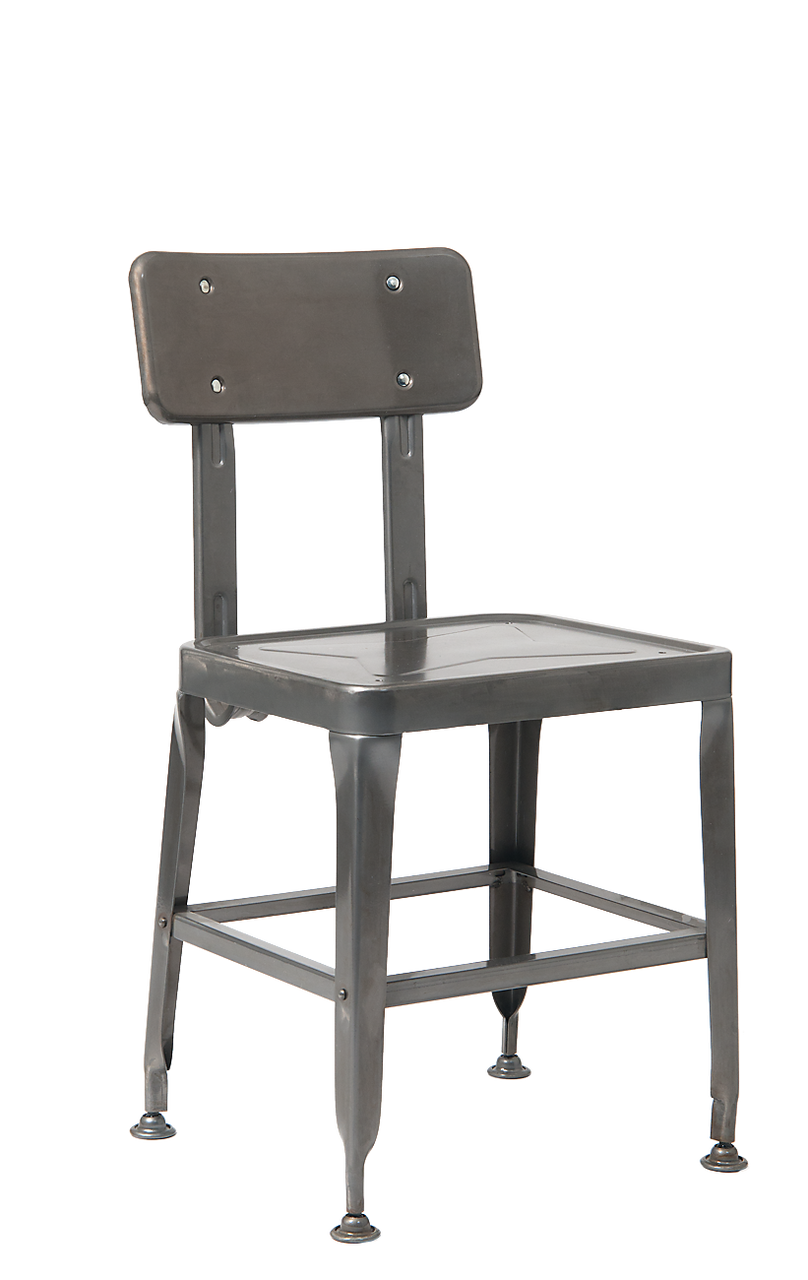 Vintage style metal chair in black for home restaurant or bar seats and stools