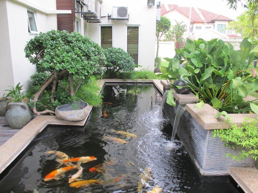 Pin On New Casa Inspiration Modern backyard koi pond