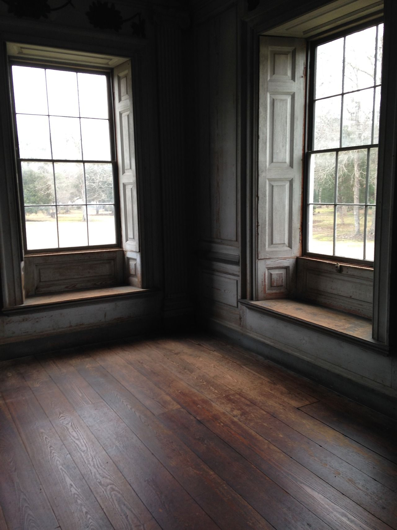 Window casing ideas  draytonhall southern pine floors in the withdrawing room drayton