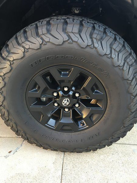 trd off road wheels painted black toyota tacoma pinterest tacoma wheels toyota tacoma y. Black Bedroom Furniture Sets. Home Design Ideas