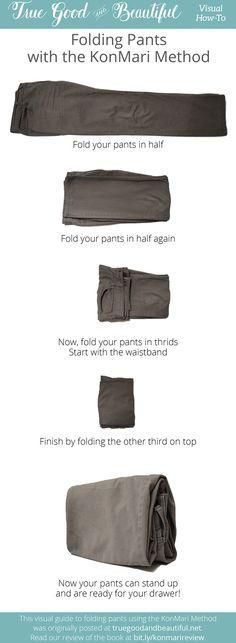 Google search of Konmari method folding clothes