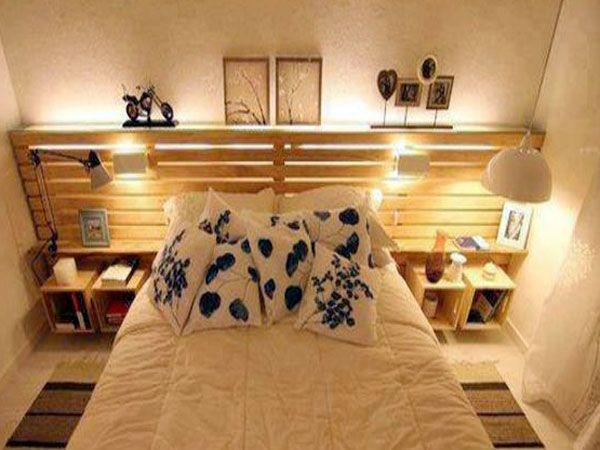 34 id es de lit en palette bois faire pour la chambre lit en palette repris et palette bois. Black Bedroom Furniture Sets. Home Design Ideas