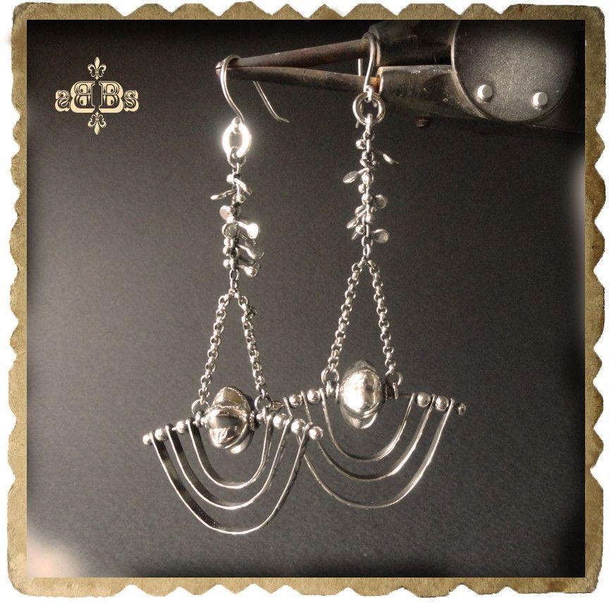 Dangling Earrings GIGER PENDULUM Sterling Silver Earrings