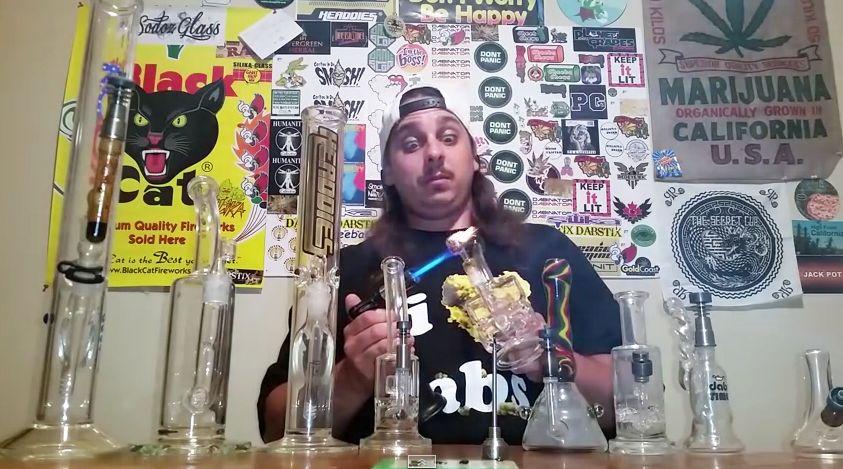 Customgrow420 taking 9 dry dabs rocking on i love dabs tee drydabs customgrow420
