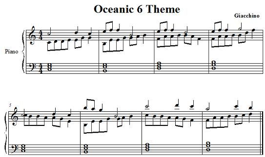 Oceanic 6 Theme Lost Sheet Music Violin Music Songs