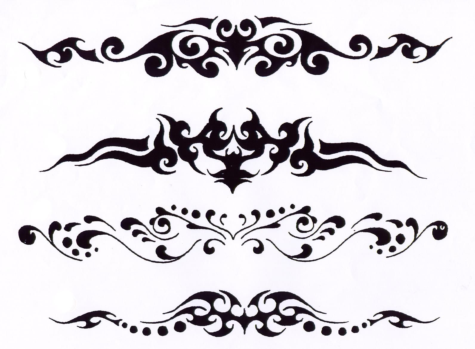 Horizontal Line Tattoo: Desenhos De Tatuagem