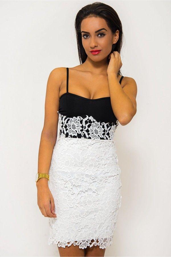 Crochet Bodycon Dress White - Dresses - Bodycon Dresses ...