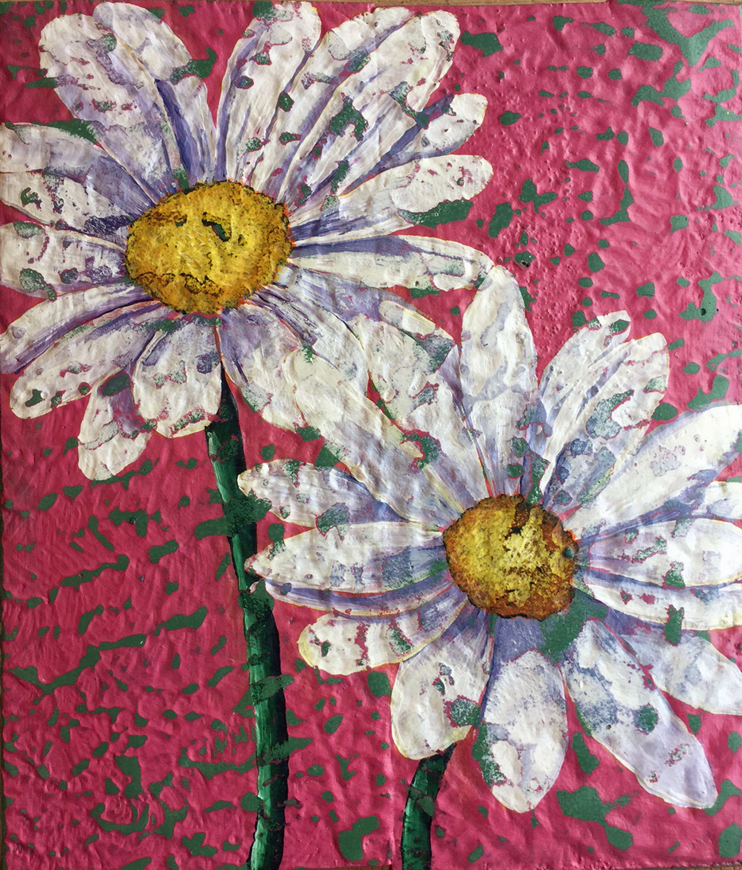 Daisy Art, Daisy Pallet Wood Painting, Daisy Home Decor, Wall Decor,  Reclaimed