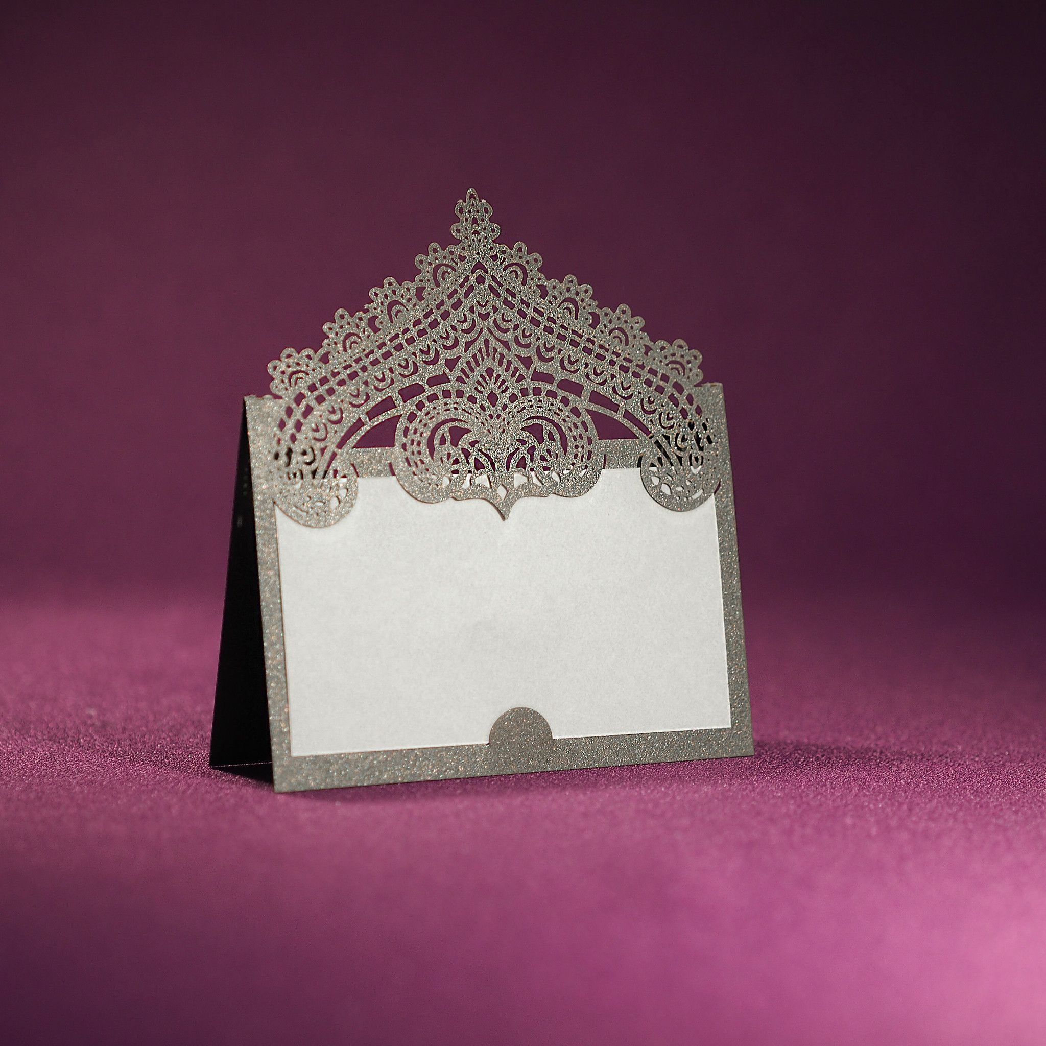 chantilly lace place card  blank from paper orchid