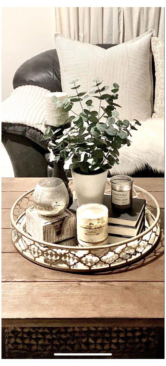 Photo of coffee table decor tray modern