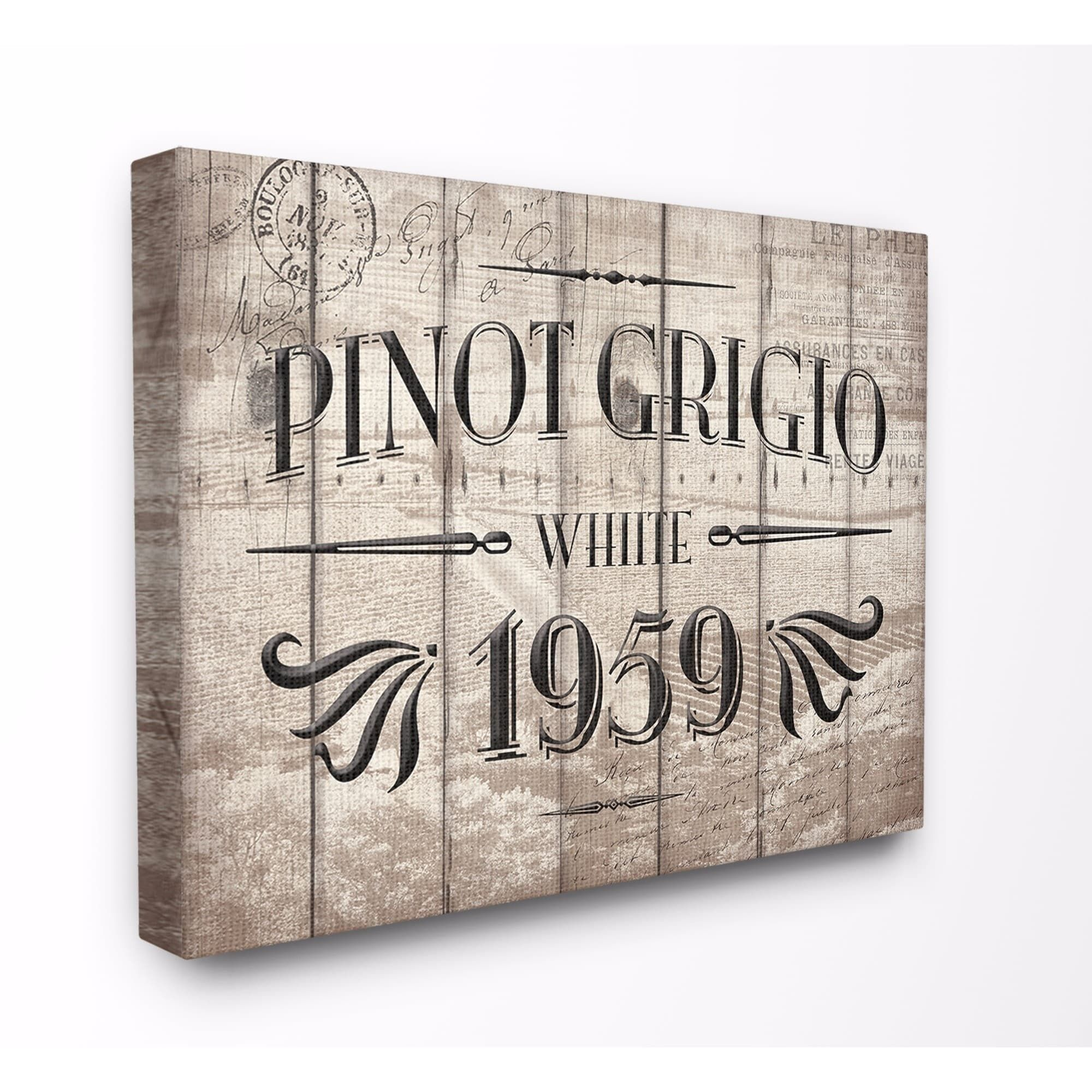 Stupell industries pinot grigio label wine red kitchen wall art
