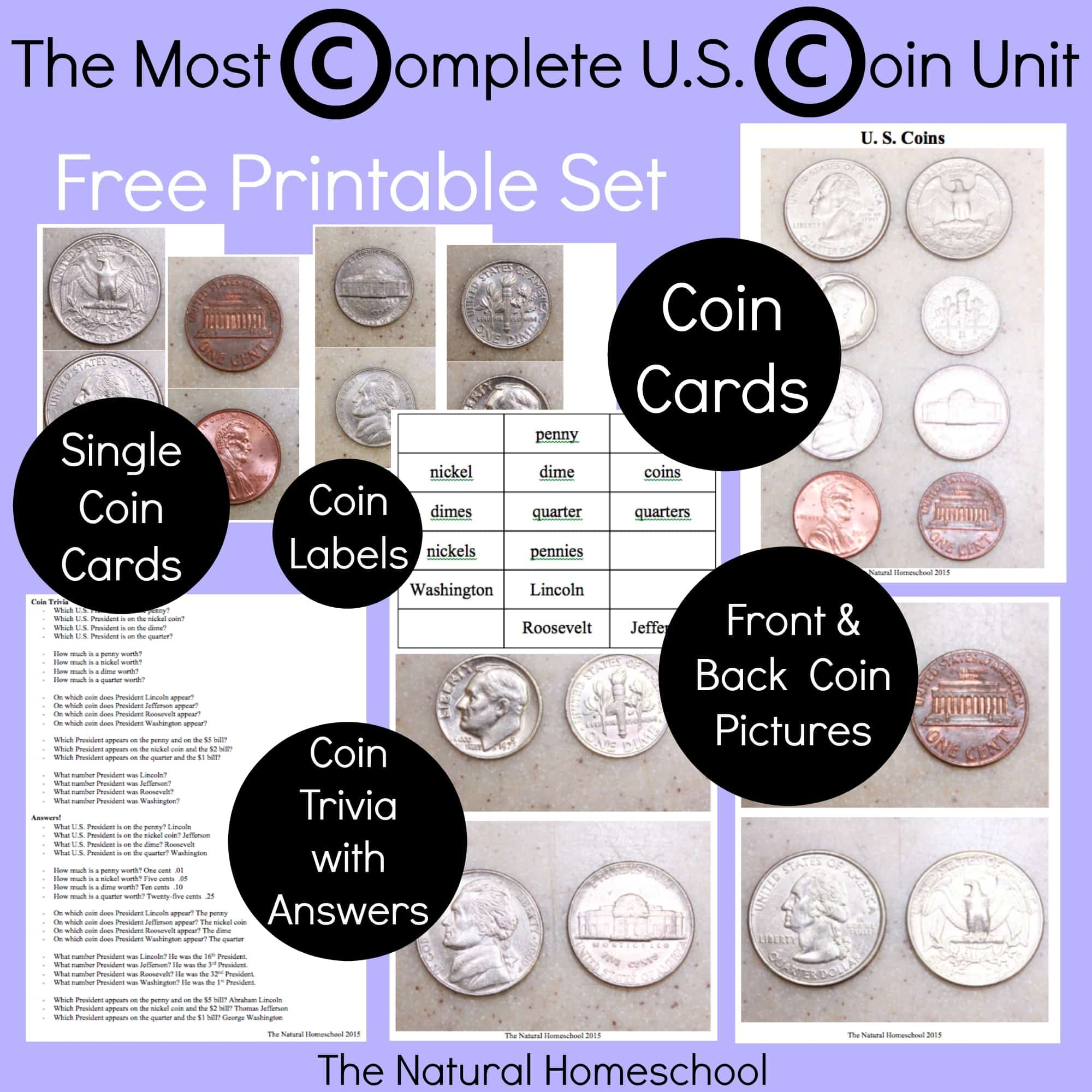 The Most Complete Us Coin Values Unit Free Printables