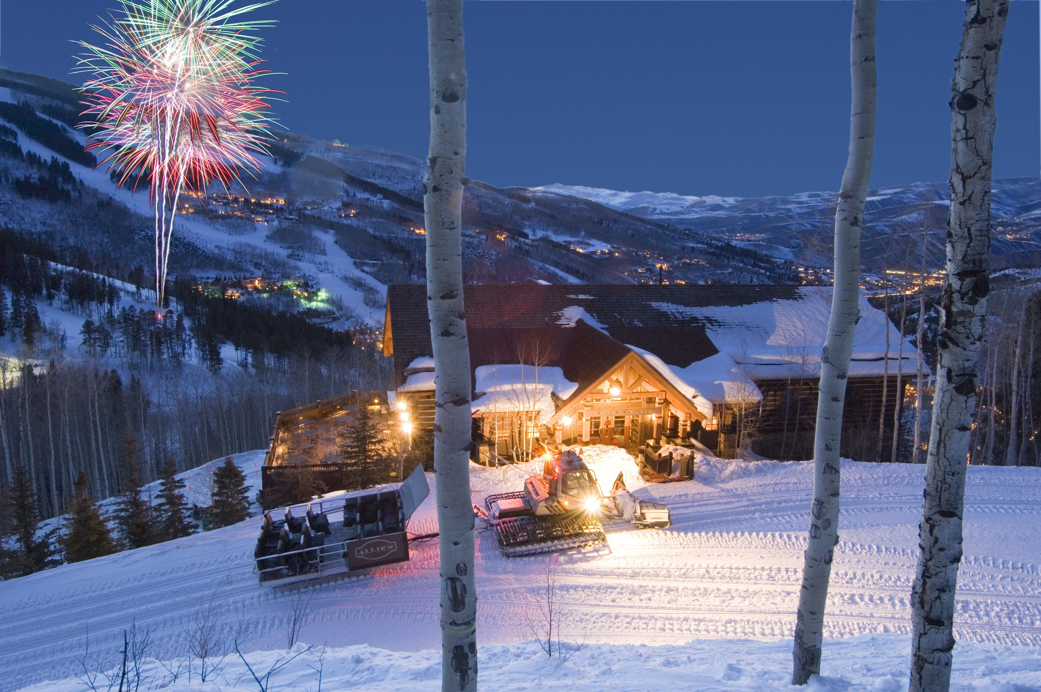 Fireworks At Allie S Cabin In Beaver Creek Colorado