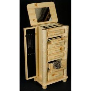 Rustic Jewelry Armoire Log Jewelry Boxreally Cool And Rustic  Things For The Home