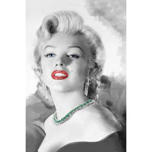 Canvas Wall Art Marilyn Monroe With Red Lips 215 X 325