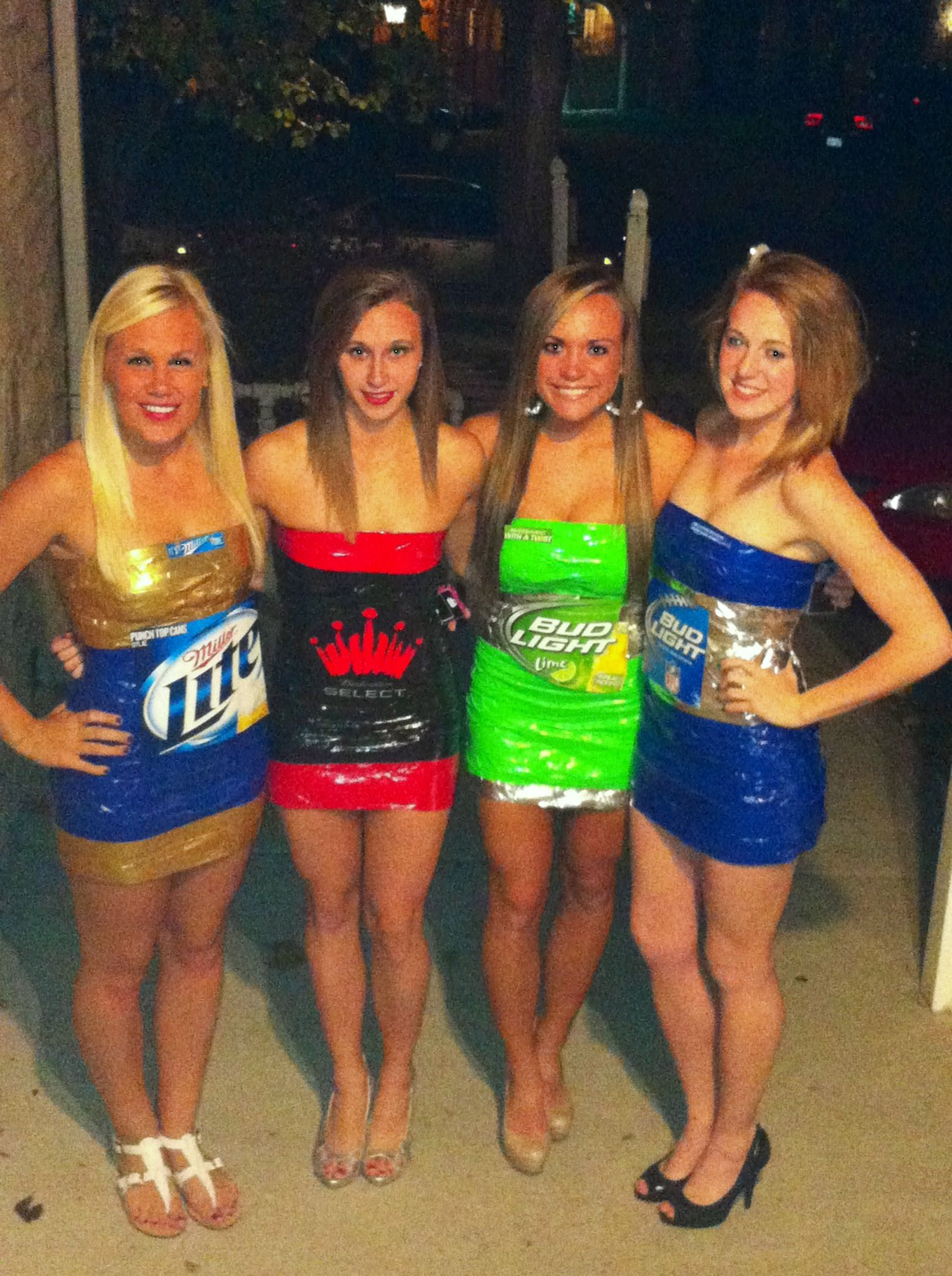 Perfect college halloween costume! beer! Miller light, bud select ...