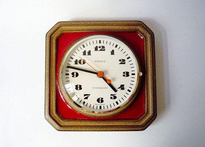 vintage german ceramic wall clock from kienzle ceramics