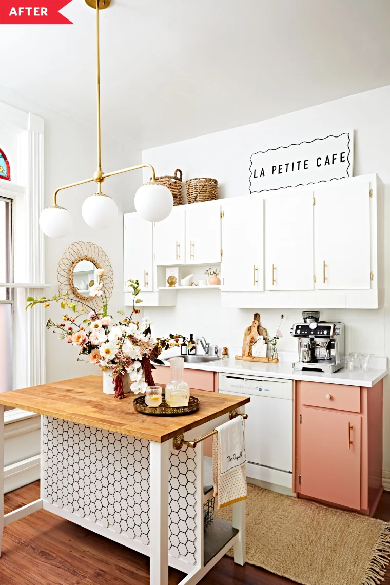 before and after a 1000 rental kitchen with one luxe looking ikea hack in 2020 rental on kitchen organization before and after id=78499