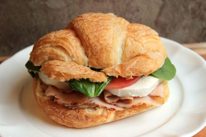Turkey Caprese Croissant from @Angie Barrett - Big Bear's Wife #DeliFreshBOLD