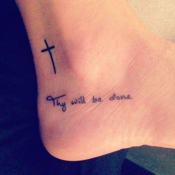 Delicados Y Sencillos Tatuajes De Cruces Para Mujer Tatuajes Para