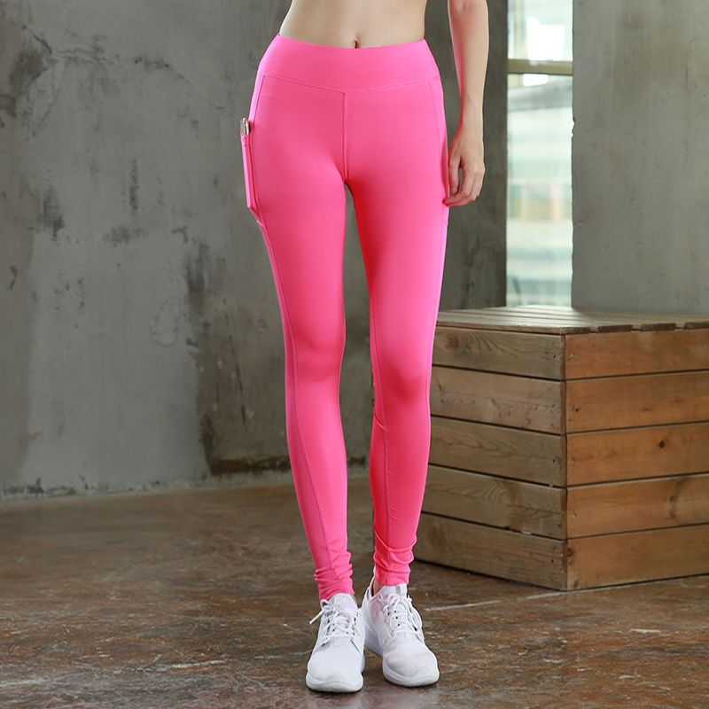 0361a9398f565b (Promotion price $12.99) 2018 Women Yoga Pant With Pocket Reflector Quick  Dry Sports Pants