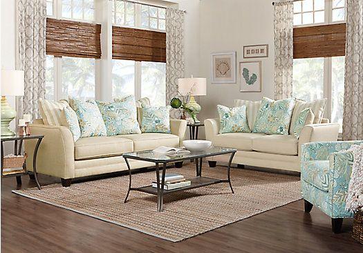 coastal grove khaki 5 pc living room  living room sets