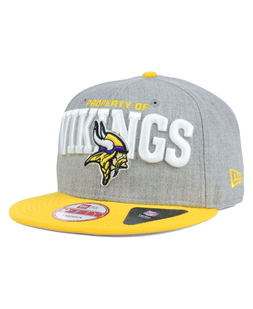 e2b7ee10359 New Era Minnesota Vikings Property of Snap 9FIFTY Snapback Cap ...