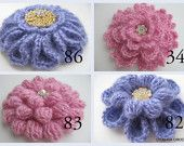 Crochet PATTERNS - Buy 4 Crochet Flower Brooches Patterns For 12 dollars only - Instant Download - Lyubava Crochet Original Designs