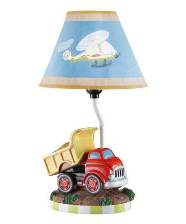 Charmant This Adorable Lamp Features A Dump Truck In Kid Friendly Colors U0026 A  Whimsical Transportation Themed Shade. Teamson Kids Boys Table Lamp    Transportation ...