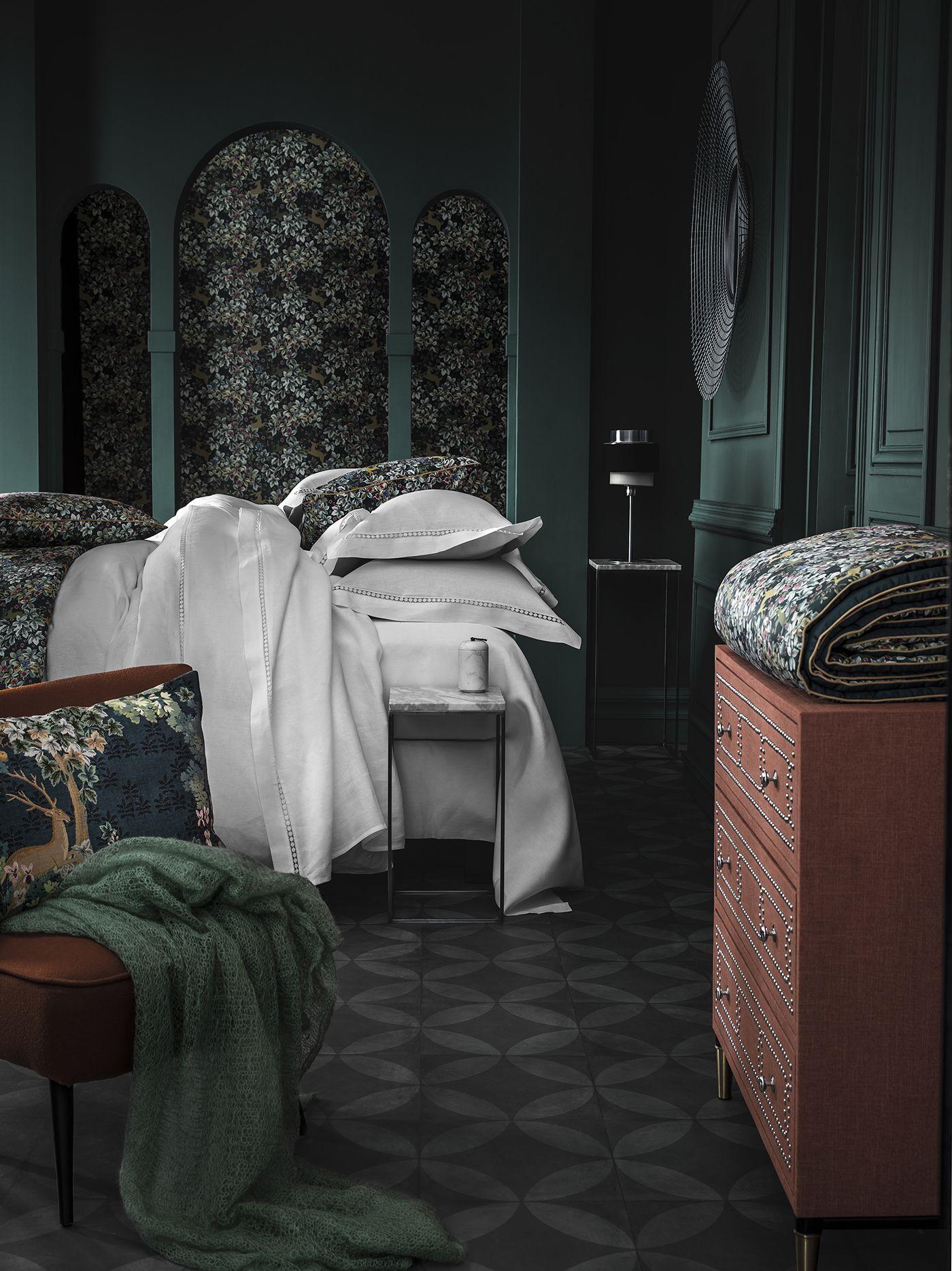 linge de lit accessoires Alexandre Turpault   Parure linge de lit Le jour en lin et  linge de lit accessoires