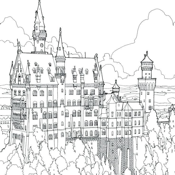 Fantastic Cities Coloring Book Astounding Pages Free