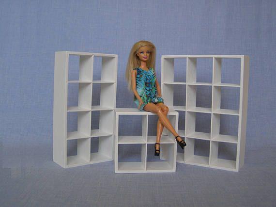 regal f r 12 zoll puppe ma stab 1 6 barbie puppe haus m bel barbie m bel pinterest. Black Bedroom Furniture Sets. Home Design Ideas