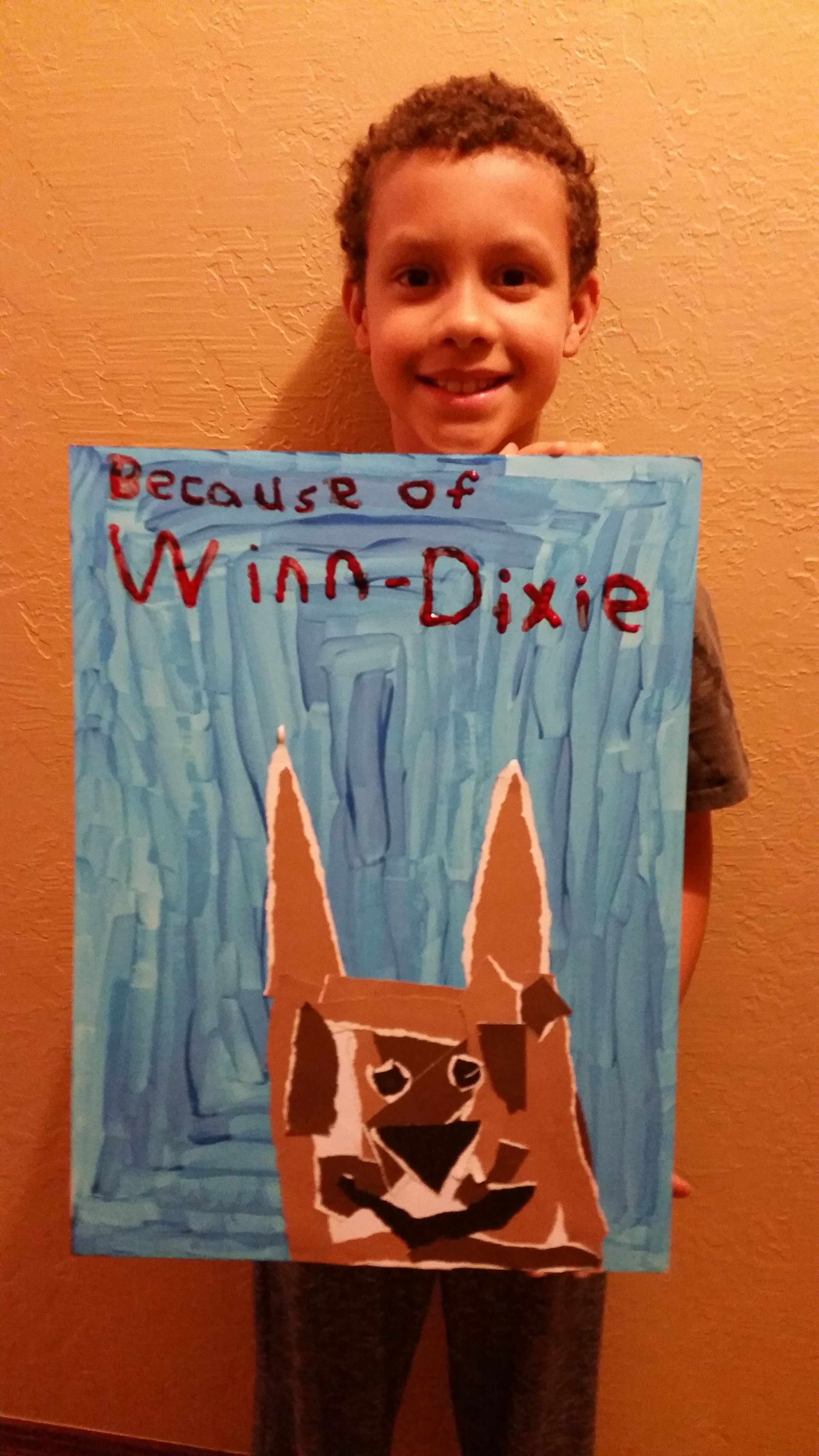 Jalen Made A Movie Poster For His Because Of Winn Dixie