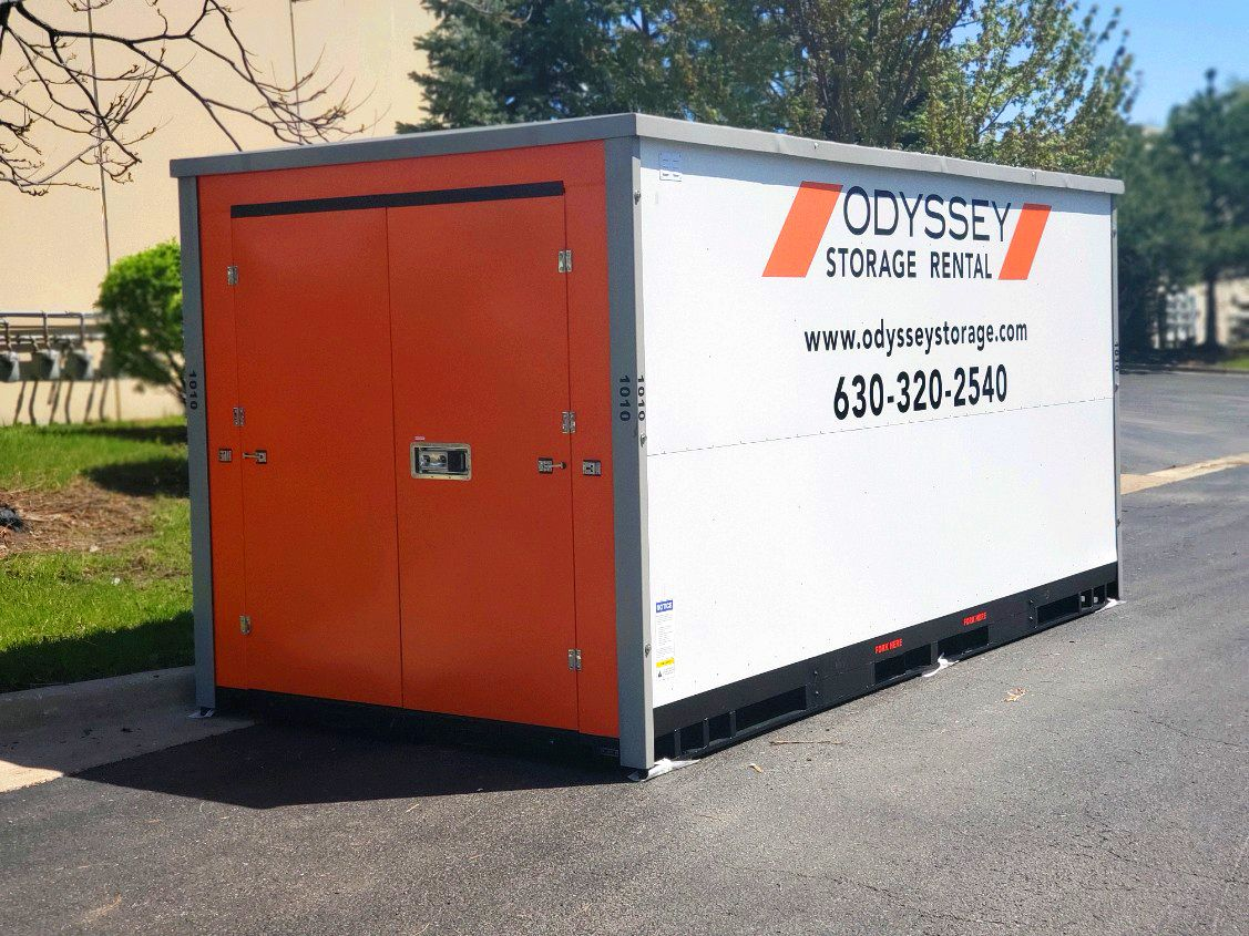 Rent a portable moving container