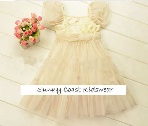 *NEW Flower Girl Princess Vintage Special Occasion Party Wedding Dress Christmas $30 +Free postage
