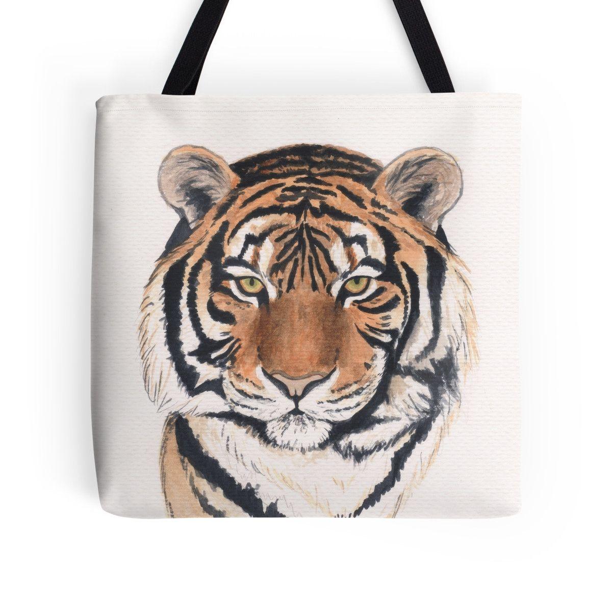 Tiger S Head Tote Bag By Savousepate Tete De Tigre Tigre
