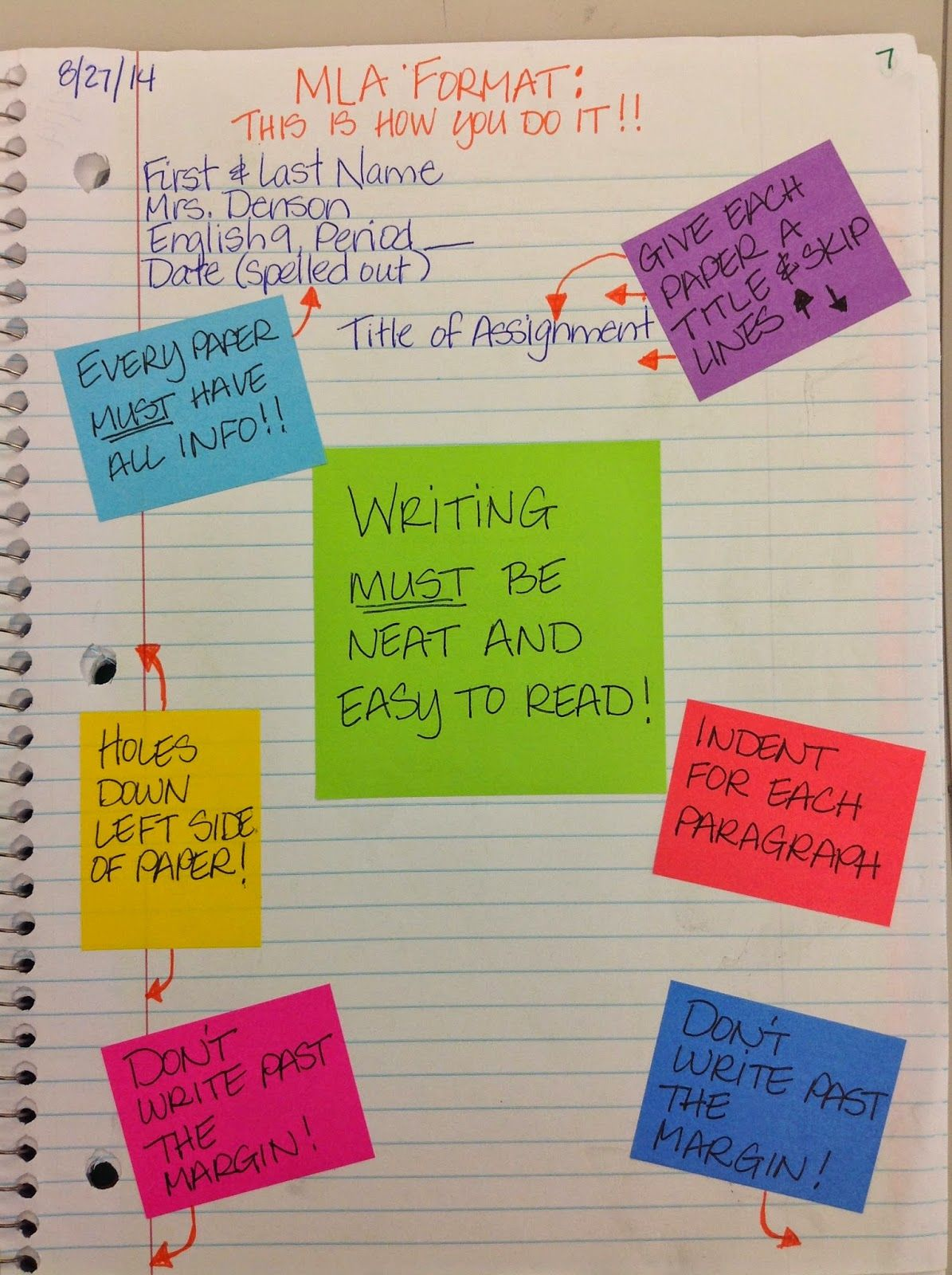 My Adventures Teaching Junior High English First Days Of Interactive Notebooks