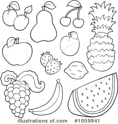 Fruit Clip Art Black and White | 2016 The best online ...